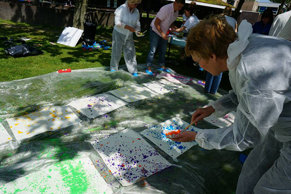 Action Painting Workshop (ook buiten)
